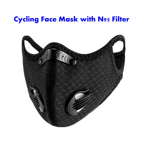 cycling face mask with n95 filter