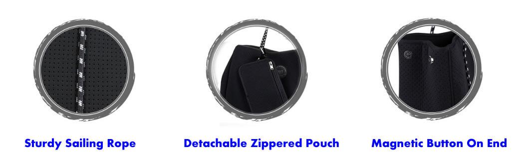 feature of neoprene tote bag