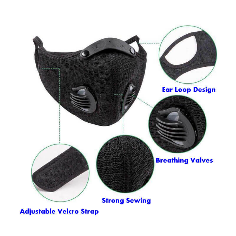 features of biking face mask