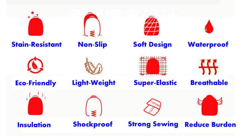 feature of neoprene school bags