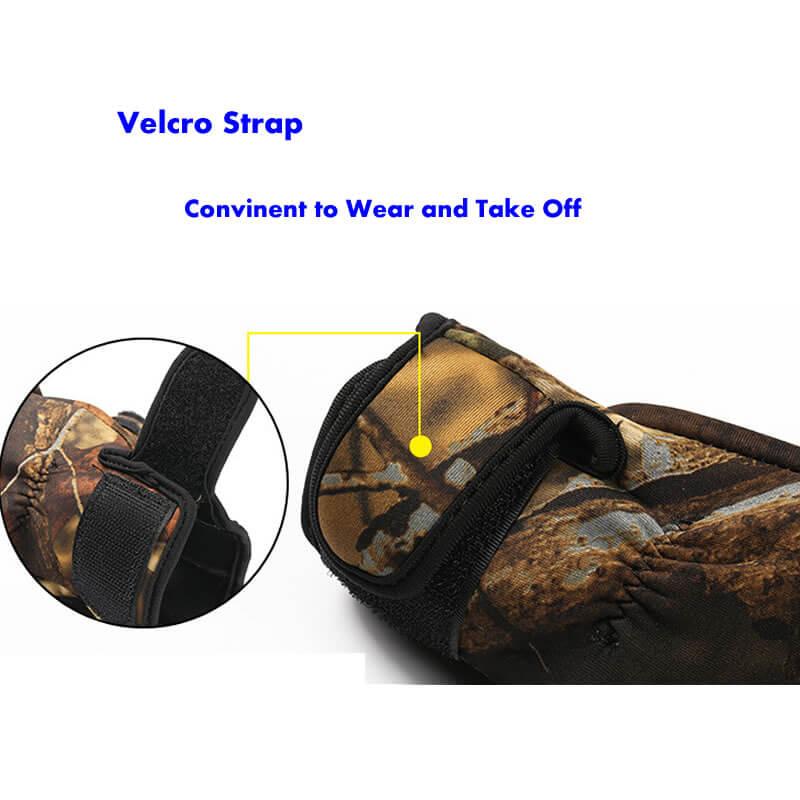 neoprene hunting gloves velcro strap