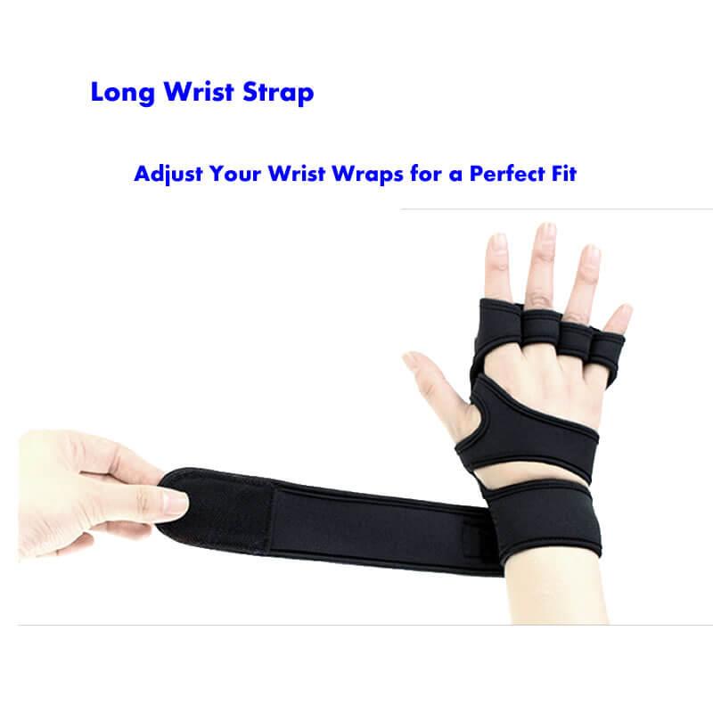 neoprene training gloves with long strap