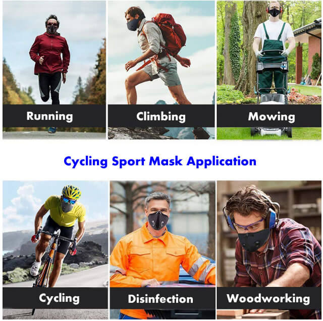 cycling face mask application